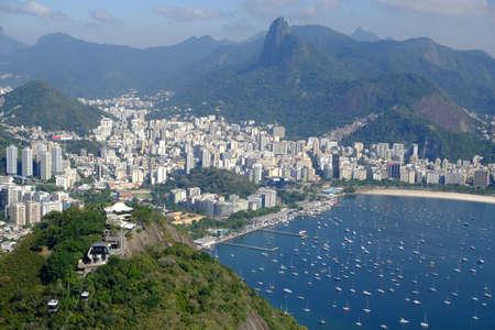 Brazil Rio de Janeiro - View from Sugarloaf Mountain to Botafogo Beach and Marina