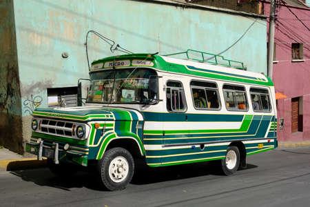 Bolivia La Paz - Colourful public bus