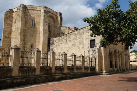 Dominican Republic Santo Domingo - Basilica Cathedral of Santa Maria la Menor Standard-Bild