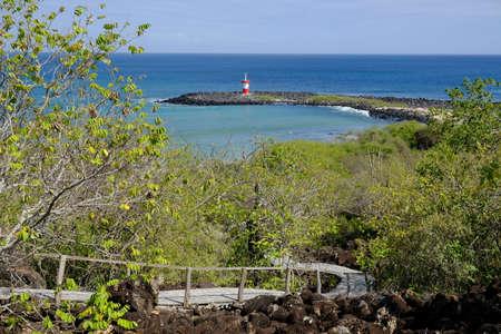 Ecuador Galapagos Islands - San Cristobal Vewpoint to Carola beach and Lighthouse Faro Punta Carola