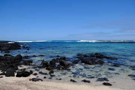 Ecuador Galapagos Islands - San Cristobal Island Scenic beach view Playa Loberia 免版税图像