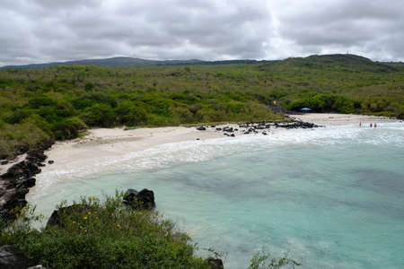 Ecuador Galapagos Islands - San Cristobal Island  - Wildlife filled environment Beach Puerto Chino 免版税图像