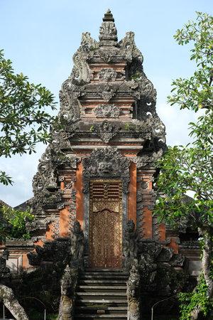 Indonesia Bali - Ubud Entrance Saraswati Temple - Hindu temple