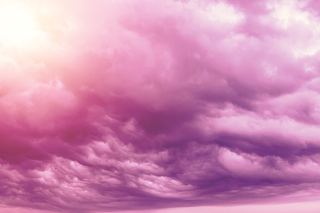 Creative background, pink, fluffy, vanilla clouds. The concept of lightness, magic, magic, fairy tale, good. Background for cards, flyers. Archivio Fotografico
