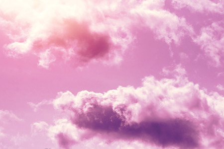 Creative background, pink, fluffy, vanilla clouds. The concept of lightness, magic, magic, fairy tale, good. Background for cards, flyers. Zdjęcie Seryjne