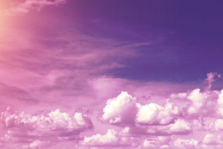 Creative background, pink, fluffy, vanilla clouds. The concept of lightness, magic, magic, fairy tale, good. Background for cards, flyers. Фото со стока