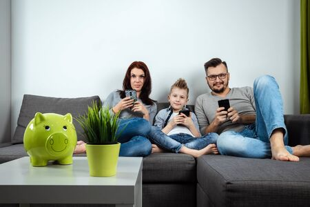 Modern family, everyone is sitting in smartphones than the passionate. The concept of harmfulness of modern gadgets, the detrimental effect on communication, the lack of live communication.