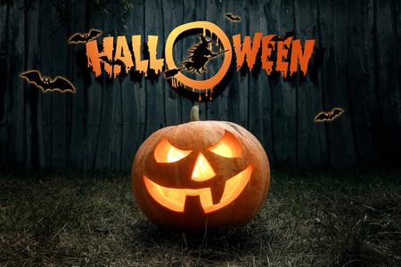 Halloween, fantôme, citrouille. Conception d'un flyer de vacances, carte d'invitation, carte postale. Banque d'images