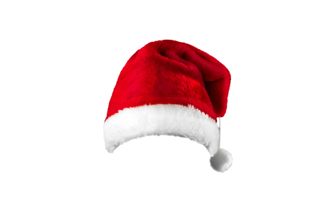 Pattern, Santa Claus hat isolated on white background. Mockup, layout 写真素材