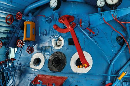 Engine room detail of a steam locomotive
