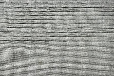 texture de tissu tricoté gris, gros plan, vue de dessus Banque d'images