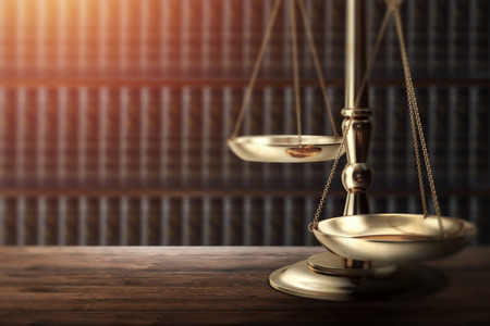 Judges gavel on wooden background, top view. The concept of justice, punishment, judge, corrupt court.
