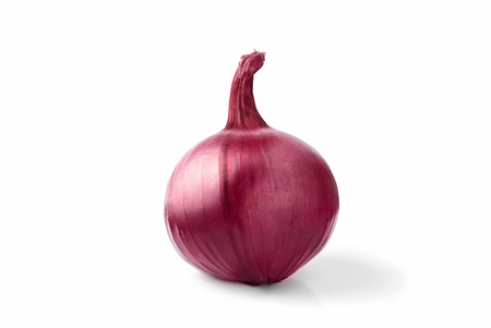 red onion bulb isolated on white background cutout 写真素材