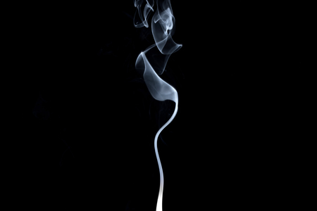 Abstract, white smoke isolated on black background. Isolate Stok Fotoğraf