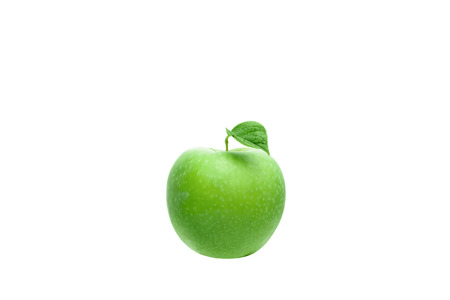 Green apple on a white background. Isolate. 写真素材