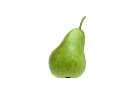 Green pear on a white background. Isolate.