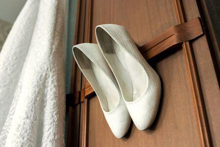 Beautiful bridal stiletto heel shoes