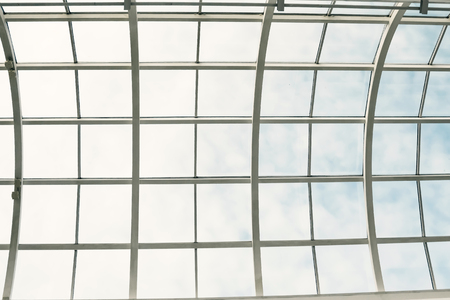 Plastic ceiling with the Blue Sky