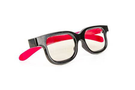 3D cinema glasses isolated on a white background. The concept of entertainment, technology