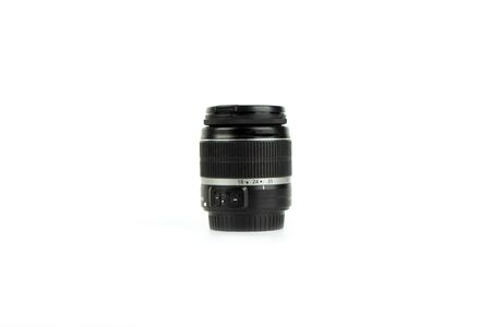Photo lens isolated on a white background. 版權商用圖片 - 145054788