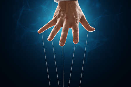 The puppeteer's hand is large. The concept of world conspiracy, world government, manipulation, world control