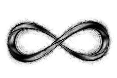 infinity sign hologram isolated on white background. Reklamní fotografie