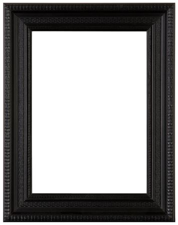 Black wooden picture frame, cut out Stock Photo - 3123401