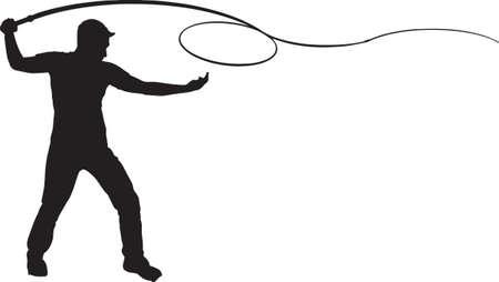cracking: Man Cracking Whip