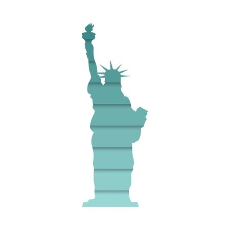 statue of Liberty, abstraction with shadows, vector illustration  イラスト・ベクター素材