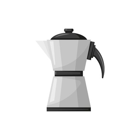 flat style geyser coffee maker on white background