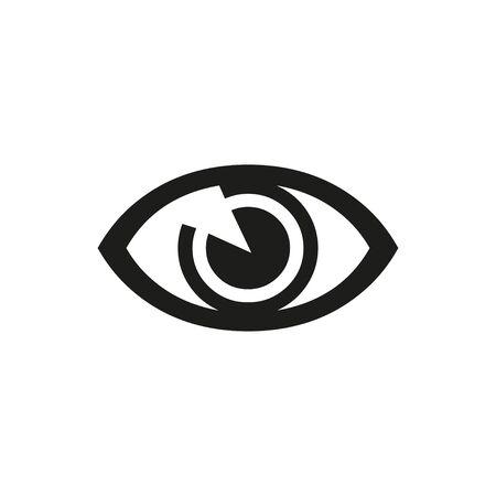 black eye icon on a white background, vector Ilustração