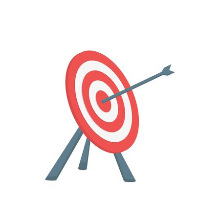 target and arrow flat isometry on a white background Banco de Imagens - 128900913