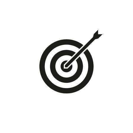 target arrow black and white icon, vector illustration Banco de Imagens - 128901466