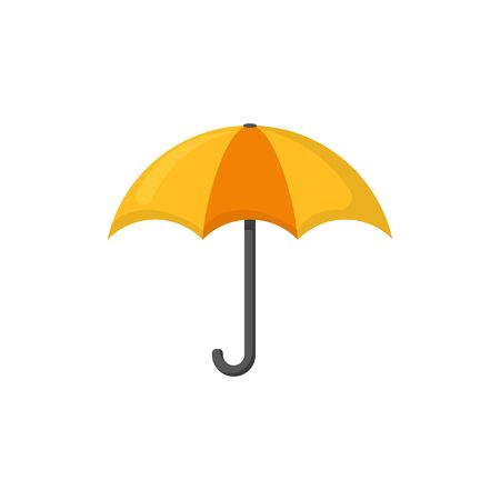 umbrella in flat style on a white background