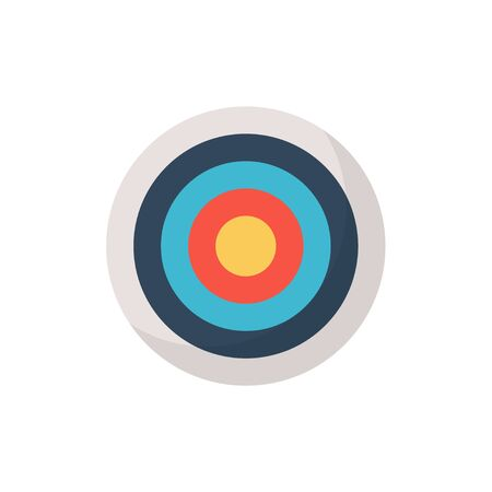 target without arrow in flat style on white background Banco de Imagens - 128901652
