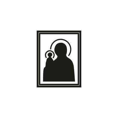 Icon of Our Lady of Orthodoxy Catholicism, vector