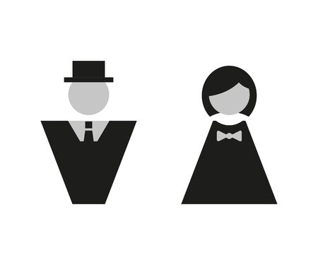 man and woman icon vector in flat style Zdjęcie Seryjne - 128902009