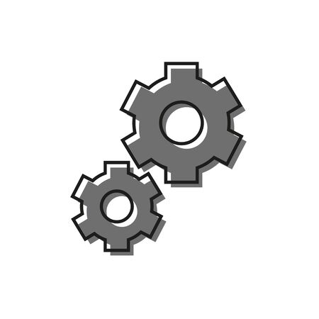 color flat icon of settings icon, isolated vector