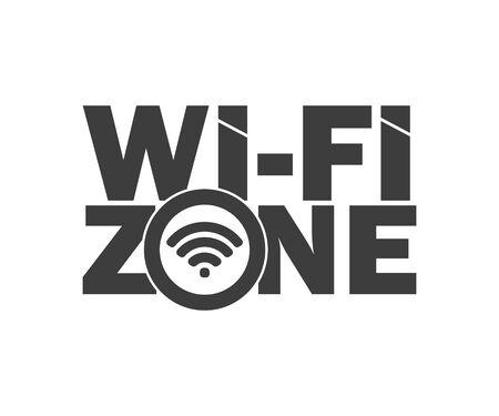 symbol wi-fi zone network icon sign, vector illustration Ilustração