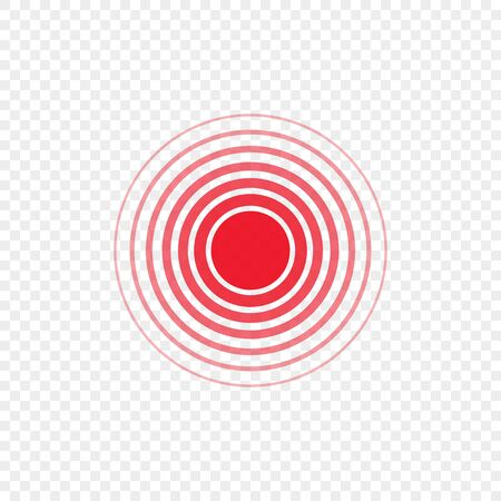 red ring, pain circle on a transparent background, vector