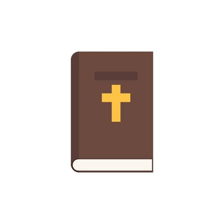 Holy Bible color icon in flat style, vector illustration