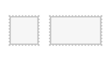 set postage stamp isolate on white background, vector