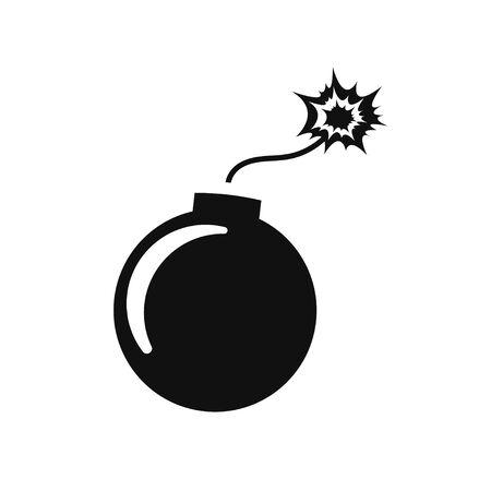Bombensymbol auf weißem Hintergrund isolieren, Vektorillustration