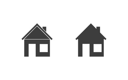 house icon set isolate on white background, vector