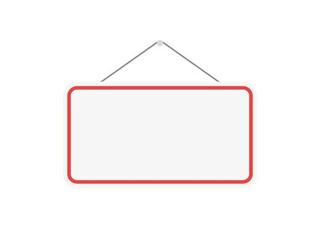 board on doore in flat style on white background 일러스트