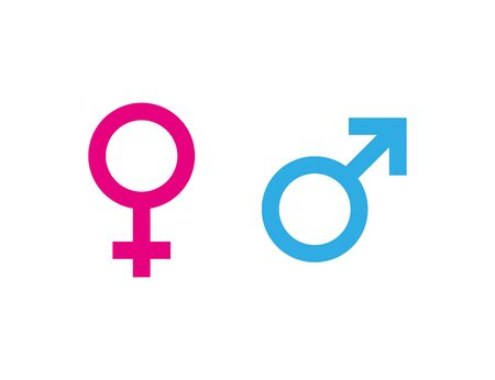 man woman symbol gender icon in flat style
