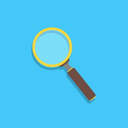 magnifier flat icon isolate on white background, vector