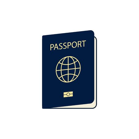 passport isolated on white bacground in flat style, vector illustration Foto de archivo - 142051078