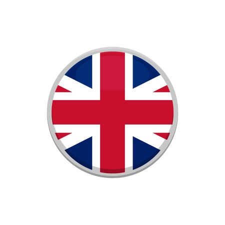 united kingdom flag vector official flag. Button, icon. Isolated vector sign symbol