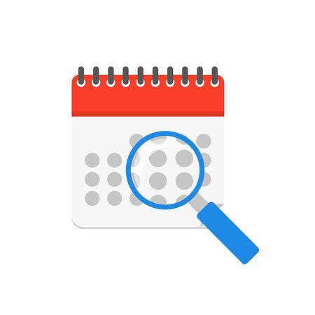 Calendar event find isolate, vector illustration in flat style